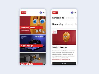 AGO Reimagined Mobile website web ux ui art illustrator branding app illustration design