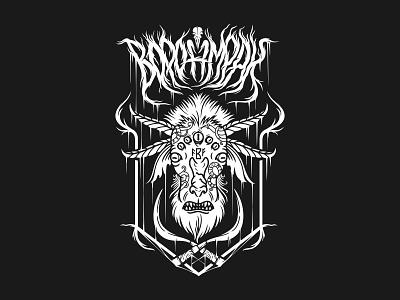 Voronmrak musiclogo branding logo illustration design vector