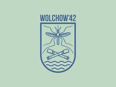 Wolhow'42 t-shirt logo design vector