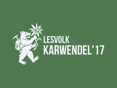 Karwendel'17 brand mountain edelweiss bear branding illustration logo design vector