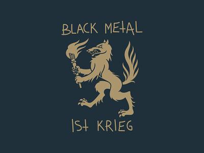 BMIK t-shirt print vector illustraion krieg flame torchlight blackmeal wolf