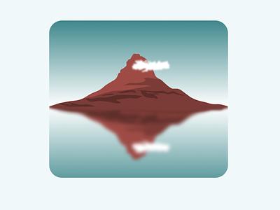 Mountain shades clouds mountain illustrator vector minimal illustration design art ui graphic design