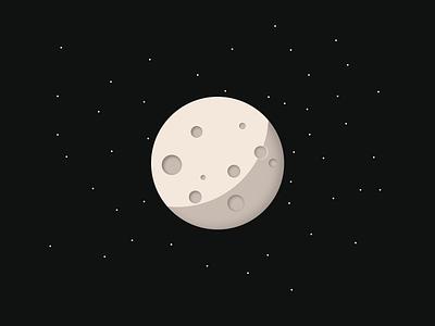 Moon Crater Illustrator crater moon illustrator vector minimal illustration design graphic design