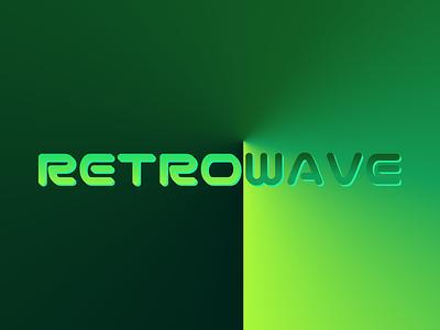Retrowave vector art illustrator logo typography graphic design design illustration neon light neon synthwave retrowave