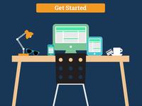 Landing Page - Basic, Flat Hero Illustration
