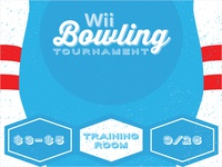 Company Wii Bowling Tournament Poster