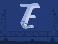 Tom Emerson - Logo & Gig Poster