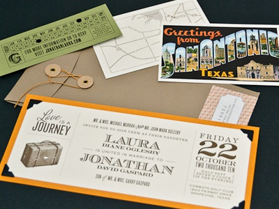 Vintage Travel Wedding Invite invitation vintage travel wedding