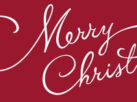 Merry Christmas type christmas merry red script
