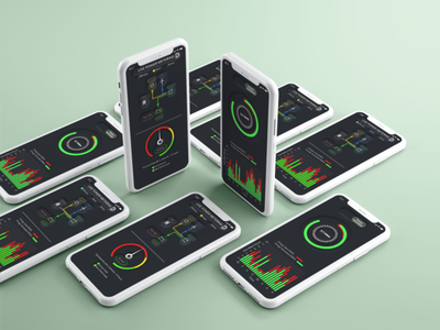 Energy Security Power Watcher user interface design app ux ui