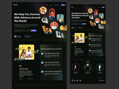 Anyone- Advice platform concept design illustration uxdesign minimal webdesign minimalui design uidesign ui