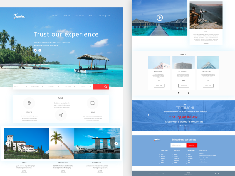 Travel Website Design typogaphy website design websites ux ui design