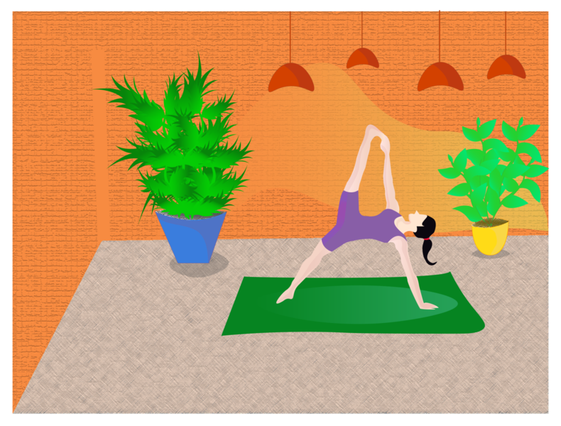 Yoga page art using adobe illustrator illustration of the day digital illustration digital art adobe illustrator illustration art illustraion design