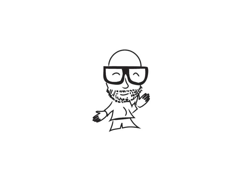 Self doodle icon illustration