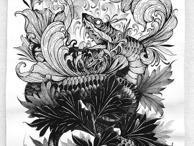 Renacimiento illustration design blackart ink blackwork art illustrations