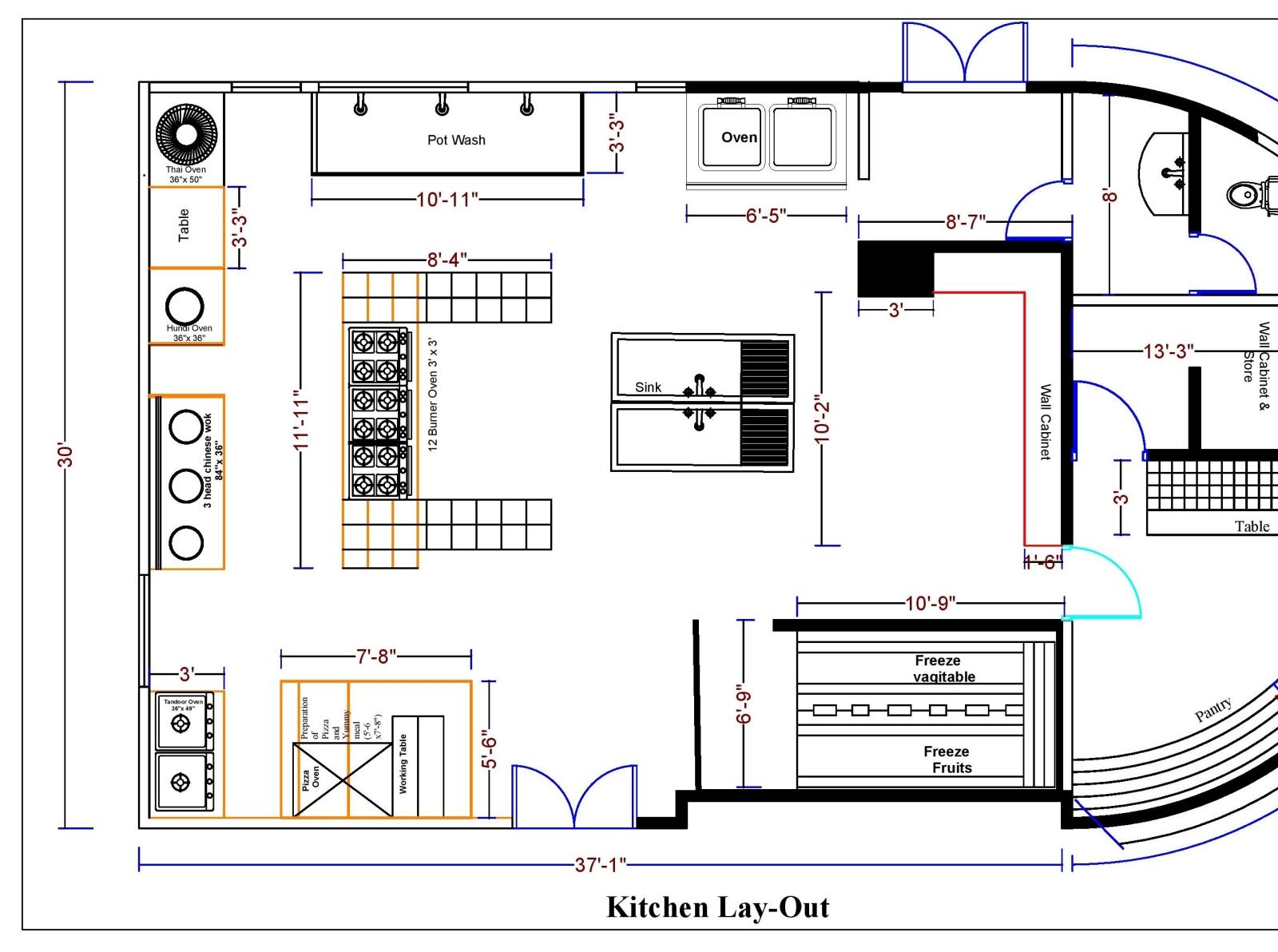 Restaurant kitchen Model pdf round page 001 by Ataur ...