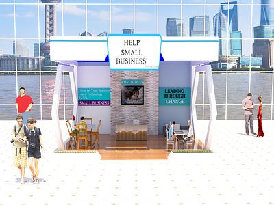 Exhibitors booth Design,,... rendering 3d exterior design 3d modeling 3d rendering booth design architectural design