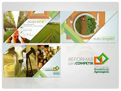 16º Congresso Brasileiro do Agronegócio presentation design