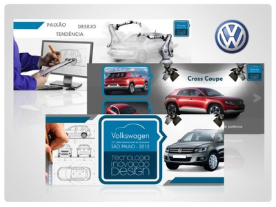 Apresentação da Volkswagen para o Salão do Automóvel presentation design