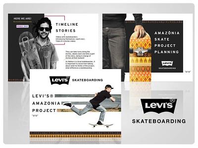 Apresentação da Levi's Amazonia Project presentation design