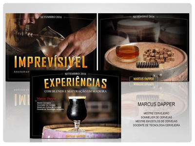 Apresentação para curso do cervejeiro Marcus Dapper presentation design