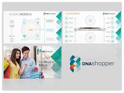 Aptresentação da plataforma DNA Shopper presentation design