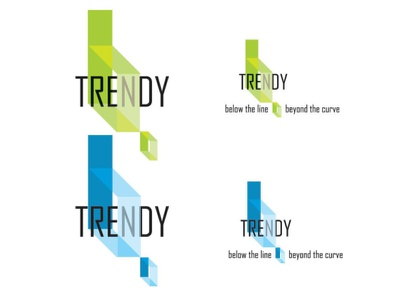 Logo B. Trendy logotype