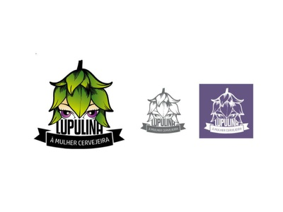 Logo para evento Lupulina à mulher cervejeira logotype