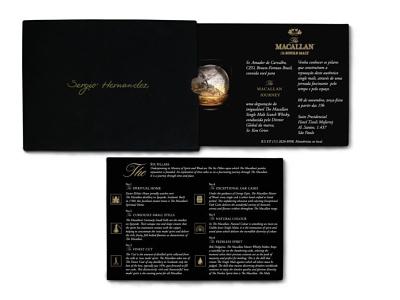 Convite impresso para The Macallan Journey graphicdesign