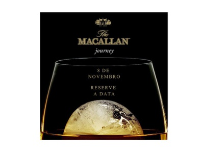 """Save the Date virtual para """"The Macallan Journey"""" graphic design"""