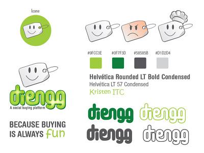 Identidade visual para o aplicativo Diengg graphic design