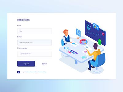 📘 Registration form registration page landing login simple minimalism web signin signup figmadesign figma uxui uiux ux ui design registration form registration register