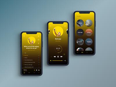 🎵 Music player radio figma designer uiuxdesigner uiuxdesign uiux uidesign ux music player ui iphone x iphoneapp design iosapp ios audio app music app app audio music