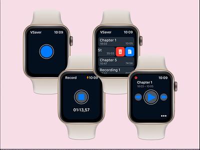 ⌚️ Apple Watch App ui uiux watch applewatch iosapp ios audio audio app app figma design