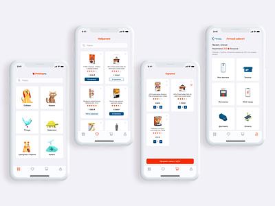 🐾 Petshopru catalog shopping bag shopping pet onlineshop onlinestore iosapp petshop redesign reinventing branding figmadesign designer ux ios app uiux ui design figma
