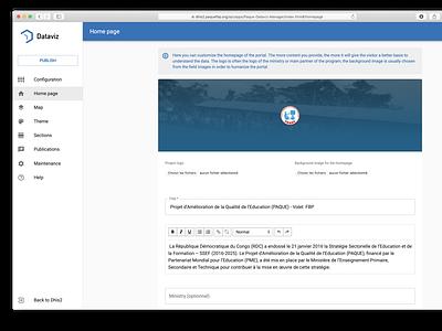 Bluesqare - Dataviz manager admin react material-design