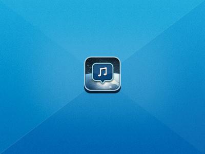 Emuzikos Iphone Icon icon ui space music community web app app iphone