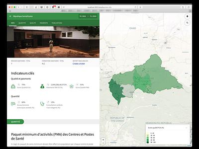 Dataviz app for healthcare program monitoring choropleth map dhis2 app dataviz ui