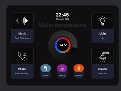 Shower Touch Pannel app icons ux design design ui  ux ui design