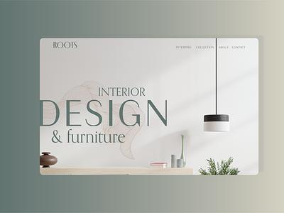 ROOTS uiux uidesign minimal brand design brandidentity website ui design visual identity herosection landing page webdesign ux branding ui