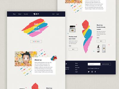 ZZZ ux visual design landing page brandidentity brand design design visual identity branding webdesign web ui landing page design landingpage