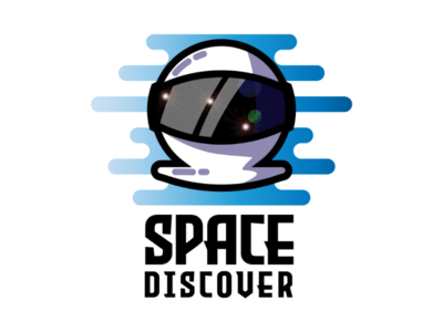 Space discover. logo space discover