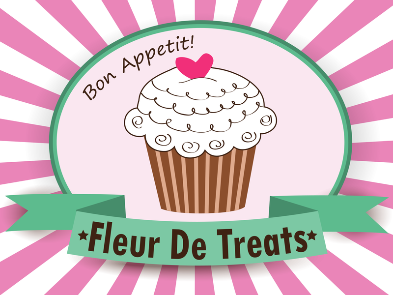Fleur De Treats Logo creative vector design branding logo