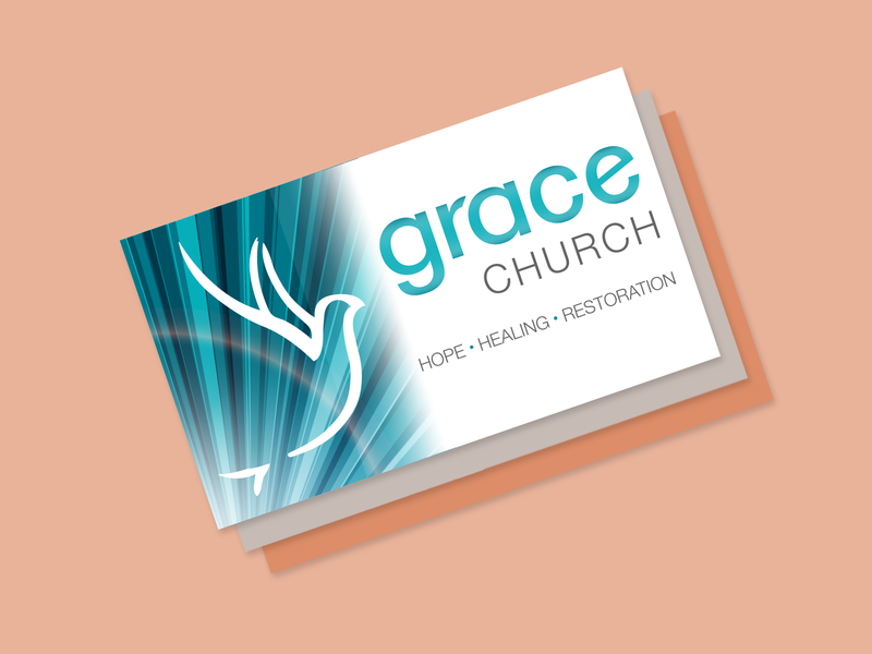 Grace Church Business Cards modern logo professional design typogaphy photoshop logo design logo business card branding