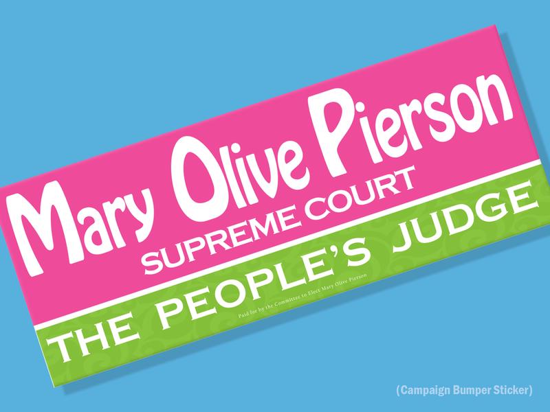 Judge's Campaign advertising signage bumper sticker vector typogaphy custom logo design branding campaign