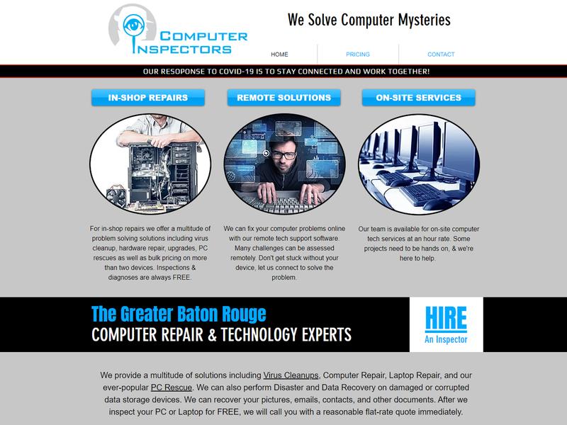 Computer Inspectors photoshop illustrator imagery branding concept logo business card web design