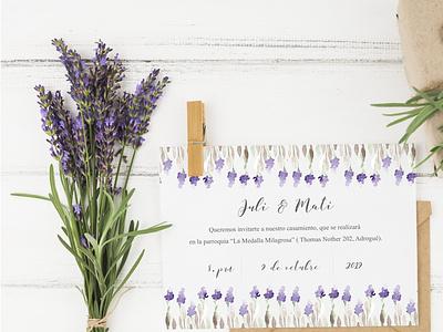 Invitación a boda photoshop composition design