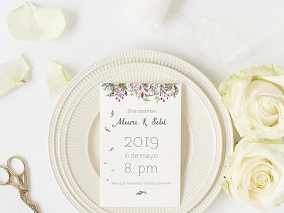 Invitación a boda vector composition design