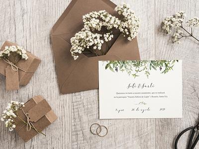 Invitación a boda composition design