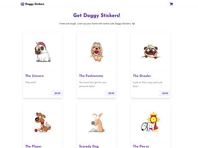 Doggy Stickers reactjs react next.js tailwindcss tailwind nextjs shopify plus shopify store store ecommerce shopify